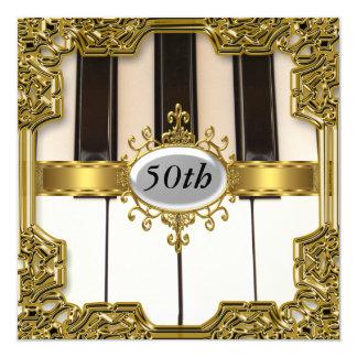 Le piano verrouille l'invitation chaude de charme carton d'invitation  13,33 cm