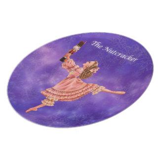 Le plat de souvenir de ballet de casse-noix assiette