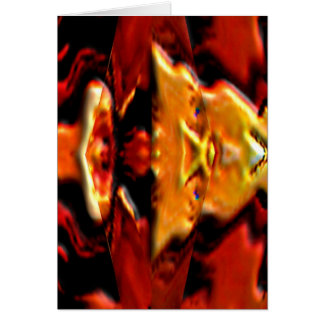 Le plat d'or n d'esprit flambe - Reiki guérissant Carte