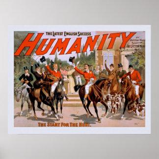 Le plus défunt poster vintage anglais d'humanité