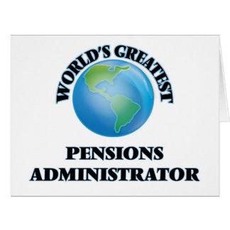 Le plus grand administrateur des pensions du monde carte de vœux