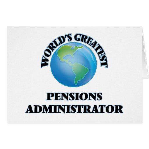 Le plus grand administrateur des pensions du monde cartes