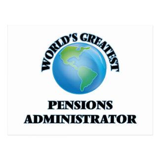 Le plus grand administrateur des pensions du monde carte postale