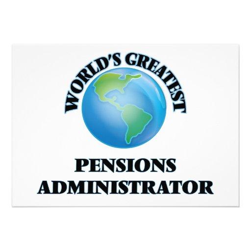 Le plus grand administrateur des pensions du monde faire-parts