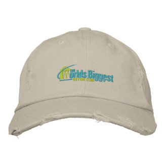 Le plus grand chapeau brodé II de Chino de marine