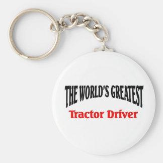 Le plus grand conducteur de tracteur porte-clé rond