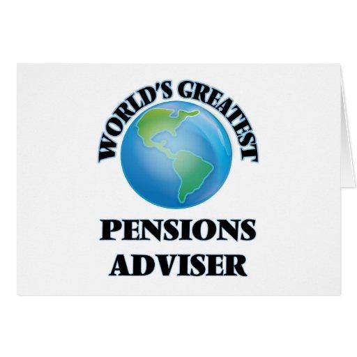 Le plus grand conseiller des pensions du monde carte de vœux