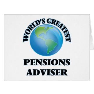 Le plus grand conseiller des pensions du monde cartes de vœux