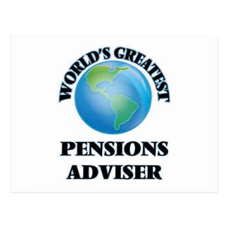 Le plus grand conseiller des pensions du monde carte postale