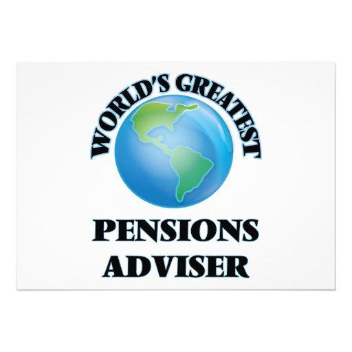 Le plus grand conseiller des pensions du monde cartons d'invitation