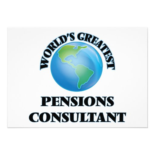 Le plus grand consultant en matière des pensions carton d'invitation