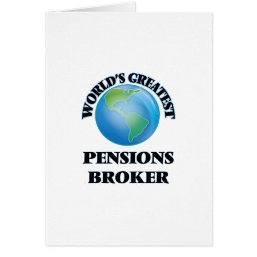 Le plus grand courtier des pensions du monde carte de vœux