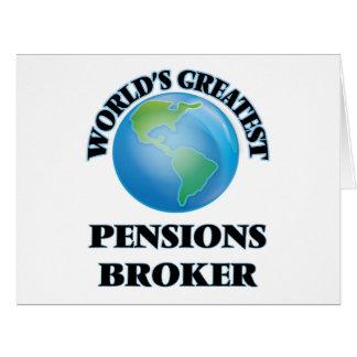 Le plus grand courtier des pensions du monde cartes de vœux