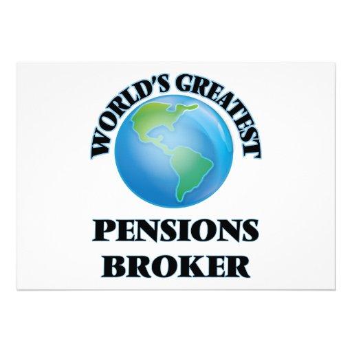 Le plus grand courtier des pensions du monde invitations