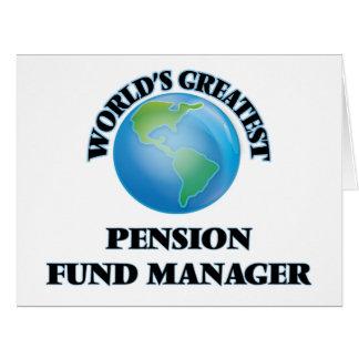 Le plus grand directeur de fonds de pension du cartes de vœux