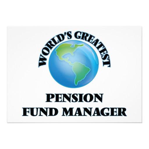 Le plus grand directeur de fonds de pension du invitations personnalisées