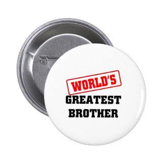 Le plus grand frère du monde badge avec épingle