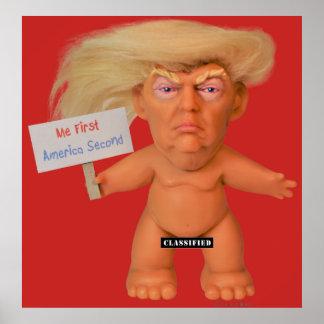 Le plus grand ROUGE d'affiche de Troll du monde Poster