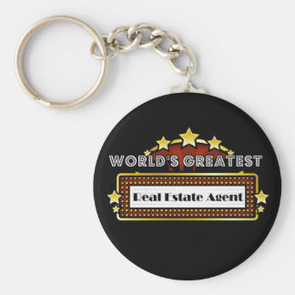 Le plus grand vrai agent immobilier du monde porte-clé rond