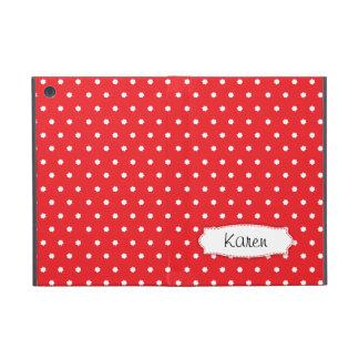 Le point de polka rouge fleurit la mini caisse de étuis iPad mini