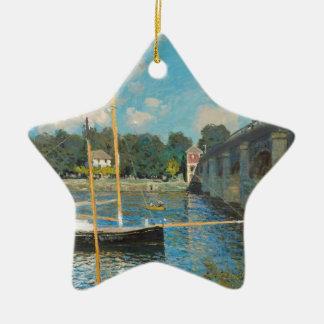 Le pont à Argenteuil - Claude Monet Ornement Étoile En Céramique