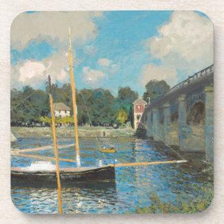 Le pont à Argenteuil - Claude Monet Sous-bock