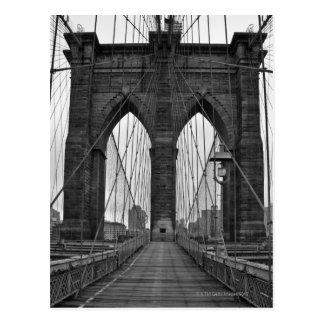 Le pont de Brooklyn à New York City Carte Postale