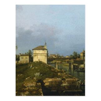 Le Porta Portello, Padoue par Canaletto Carte Postale