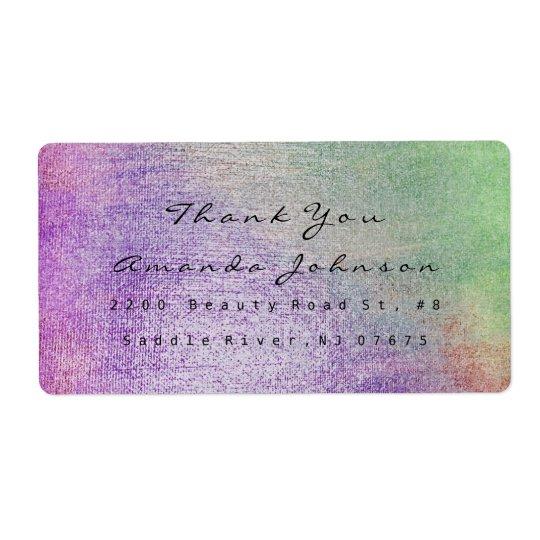 Le pourpre de Teal vert rougissent Merci de Étiquette D'expédition