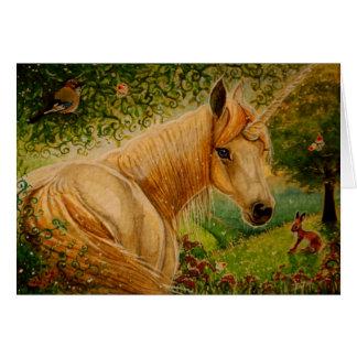 Le pré du miel - carte pour notes de licorne