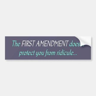 Le premier amendement autocollant de voiture