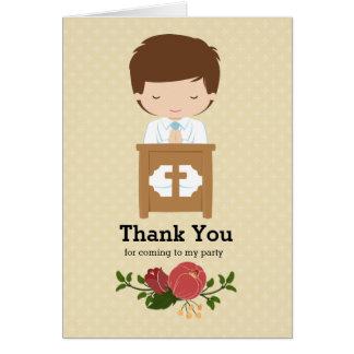 Le premier garçon de sainte communion * choisissez carte de vœux