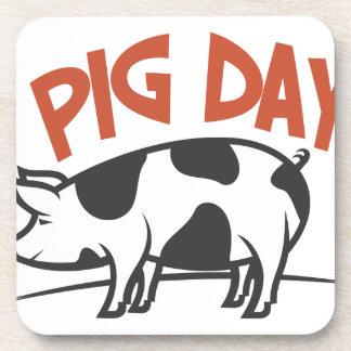 Le premier mars - jour de porc dessous-de-verre