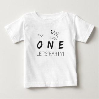"""Le premier T-shirt d'anniversaire """"j'ai UN ans,"""