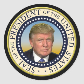 Le Président Trump Photo Presidential Seal Sticker Rond