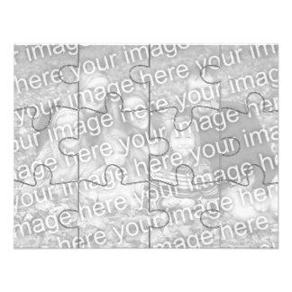Le puzzle personnalisable Card-12 de moquerie de Carton D'invitation