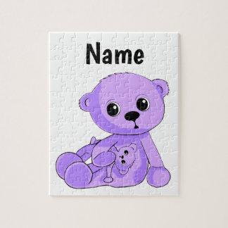 Le puzzle pourpre d'ours de nounours de bébé