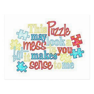 Le puzzle rapièce la carte postale d'autisme