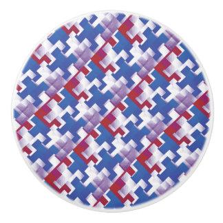 Le puzzle rapièce le bouton en céramique de