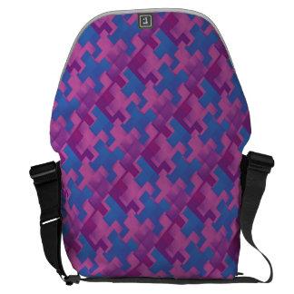 Le puzzle rapièce le sac messenger pourpre et bleu besace