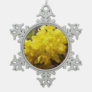 Le raisin d'Orégon fleurit les fleurs sauvages Ornement Flocon De Neige Pewter