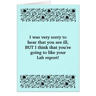 Le rapport de laboratoire obtiennent la carte