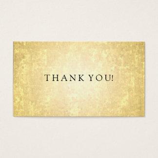Le regard de feuille d'or d'insertion de Merci Cartes De Visite