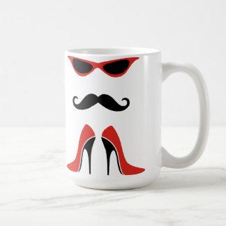 Le regard parfait en noir et rouge mug