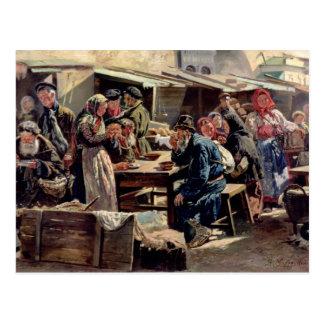 Le repas, 1875 carte postale