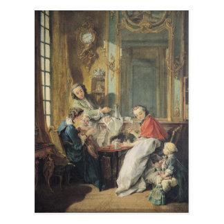 Le repas d'après-midi, 1739 carte postale