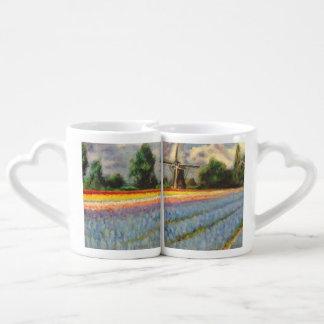 Le ressort fleurit le paysage mug