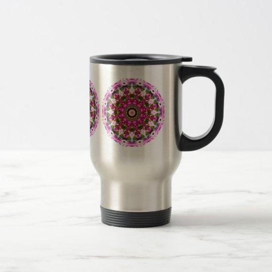 Le ressort se développe, dentelle, Fleur-Mandala, Mug De Voyage
