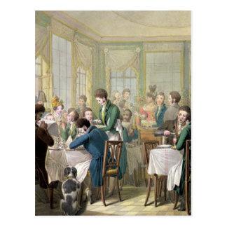 Le restaurant dans le Palais Royal, 1831 Carte Postale