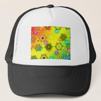 le résumé fleurit coloré casquette